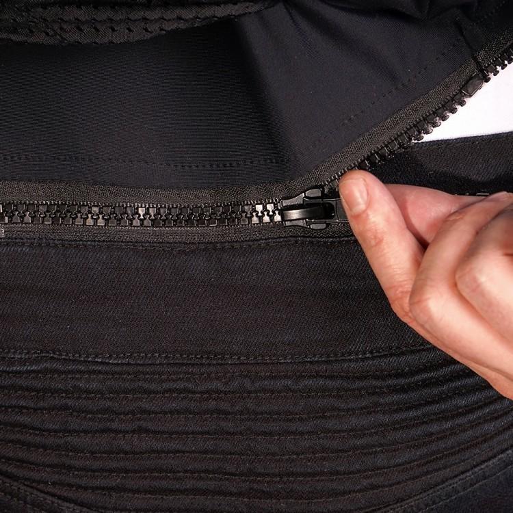 4SR Motorradbekleidung - Motorrad Jeans Club Sport Sky Black mit Protektoren