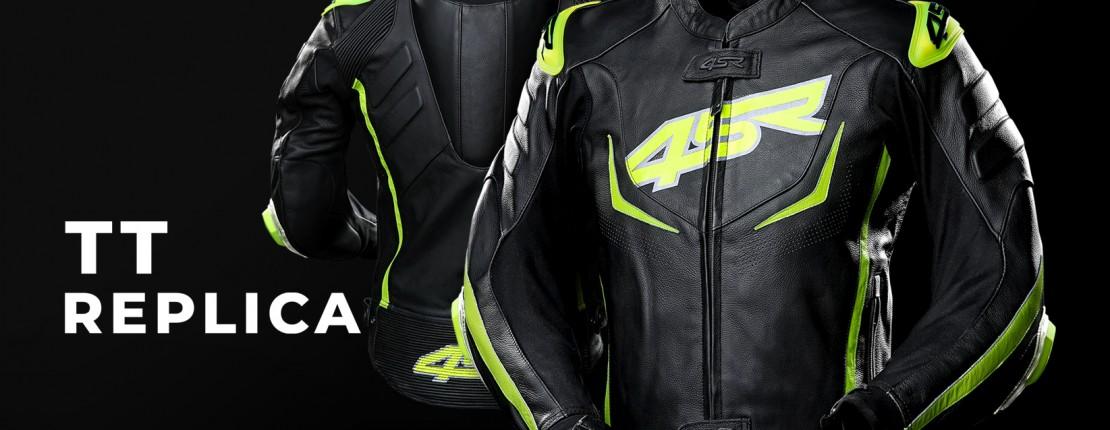 TT Replica: Sportliche Lederjacke
