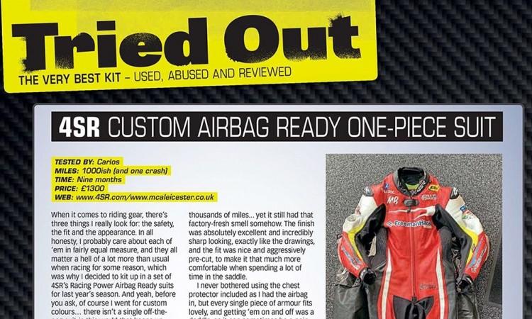 4SR Crash test - Fast Bikes Magazine review Carl Stevens